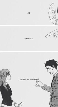 This manga and anime makes want to frickin cry Manga Anime, Sad Anime, Anime Love, Manga Art, Anime Art, Manga A Silent Voice, Koe No Katachi Anime, A Silence Voice, Anime Triste