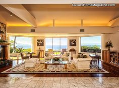 Lovely Living Room in Hawaii #luxury #homes #house #decor #interior #design
