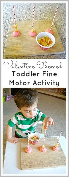 Valentine Themed Fine Motor Activity for Toddlers