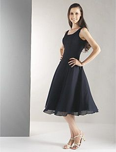 A-line StrapsTea-length Chiffon Bridesmaid/ Wedding Party Dr... – USD $ 59.39. This one in Brown or Orange. What do you girls think?
