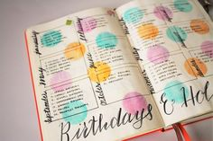 Some of you might have interests in Bullet Journal Ideas, Of course, that's there a reason you are here, right? Talking about a bullet journal, I don't know exactly where to begin. Bullet Journal Inspo, Planner Bullet Journal, Bullet Journal Layout, My Journal, Journal Pages, Journal Ideas, Bullet Journal Year At A Glance, Bullet Journal Birthday Tracker, To Do Planner