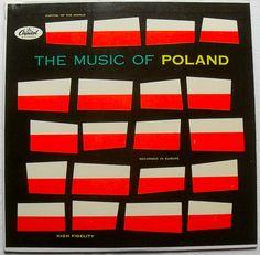 1960s THE MUSIC OF POLAND Graphic Mod Cover LP record design VINTAGE album vinyl