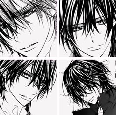 The 4 different types of Kaname Kuran in manga style