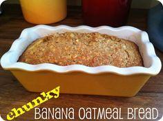 Warm Chunky Banana Oatmeal Bread