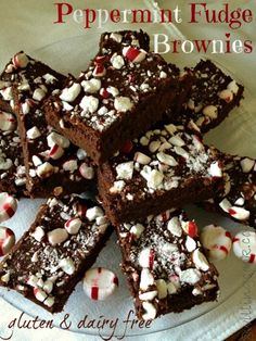 Peppermint Fudge Brownies -- Gluten and Dairy Free!