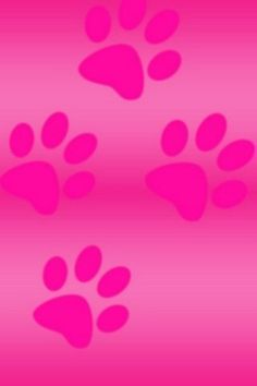 Pink paw prints wallpaper