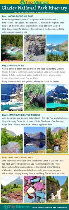 There is so much to see in Glacier! Here's one way to do: Outdoor Travel: Glacier National Park Itinerary Travel Blog, Travel Usa, Foodie Travel, Usa Roadtrip, Travel Jobs, Travel Europe, Canada Travel, Budget Travel, Travel Ideas