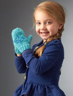 Yarnspirations.com+-, Frozen mittens, free pattern