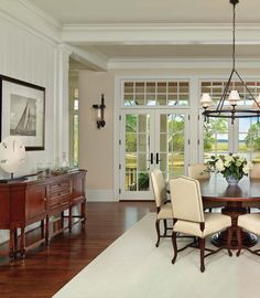 Dining area with a beautiful view--Kiawah Island home featured in Charleston Style & Design magazine #KiawahIsland