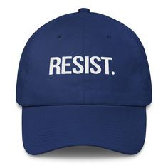 RESIST. Embroidered Baseball Hat Resistance by CivilSocietyShirts, Anti Trump hat, #Resist, #Resistance, The Resistance, Dump Trump hat