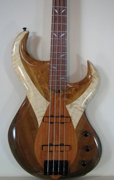 Handmade Electric Bass by DJPArtistry.com // DJPGuitars.com  (yes, that would be my husband's masterful creation!)