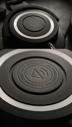 Free Headphones Logo MockUp PSD #freepsdfiles #freepsdmockups #freebies #mockuptemplates
