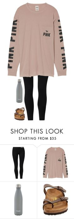 """""""•2•17•17•"""" by southernprep3 ❤ liked on Polyvore featuring NIKE, Victoria's Secret, S'well and Birkenstock"""