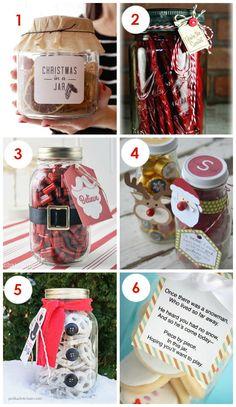 So much cute Christmas Gifts IN A JAR! Super simple but still super cute.