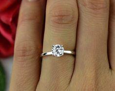 1CT solitario classico anello di fidanzamento di TigerGemstones