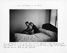 "© Duane Michals - ""This photograph is my proof. There was that afternoon, when things were still good between us, and she embraced me, and we were so happy. It did happen, she did love me. Look see for yourself!"""