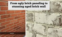 Faux Brick Wall From Paneling!