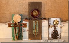 Reclaimed Angels From Wood & Various Pieces of Hardware