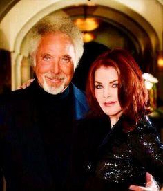Tom Jones and Priscilla Presley 2015
