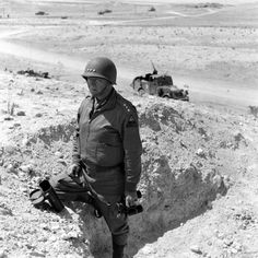 American Lt. Gen. George S. Patton in North Africa during WWII, c.1943
