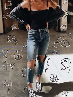 Casual Fall Outfits That Will Make You Look Cool – Fashion, Home decorating Cute Outfits For School, Cute Casual Outfits, Outfits For Teens, Teen Fashion Outfits, Mode Outfits, Teen Spring Fashion, Fashion Fashion, Fashion Black, Street Fashion