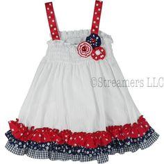4th july dresses  | 4th of July Dress for Infant| Patriotic Dresses| Infant Girl Dresses