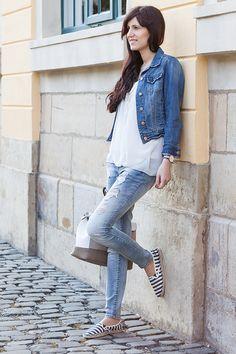 619ef1a108fa Bild Outfit, Lookbook, Fashionblogger, Hannover, Streetstyle, Maritim,  Fashion, Jeans, Jeanslook, Jeansjacke, how to style, wie kombiniere ich,  Blau, ...