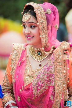 An Exquisite Punjabi Marriage Ceremony Held at Diggi Palace, Jaipur Indian Bridal Fashion, Indian Bridal Makeup, Sikh Wedding Dress, Wedding Wear, Wedding Shoot, Wedding Bridesmaids, Bridal Outfits, Bridal Dresses, Bridal Looks