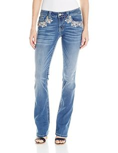 Miss Me Women's Pretty Paisley Mid-Rise Slim Boot Cut Jeans,Medium Blue,28 - http://best-women-shop.xyz/2016/06/15/miss-me-womens-pretty-paisley-mid-rise-slim-boot-cut-jeansmedium-blue28/