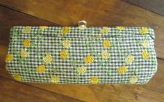 vintage 60's clutch bag Mad Men era by MySoftParade
