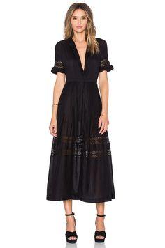 LoveShackFancy Eden Dress in Black