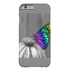 Gorgeous Butterfly On Flower iPhone Case