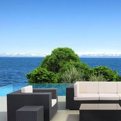 The Catalina Outdoor Arm Chair by PureModern is the perfect way to relax outdoors.  #Summer #PureModern #Modernfurniture