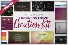 Business Card Creation Kit by Zeppelin Graphics on @creativemarket