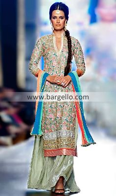 Light olive green lehnga bridal, I actually love her hairstyle, would def do this for the mehndi or Shaadi day!