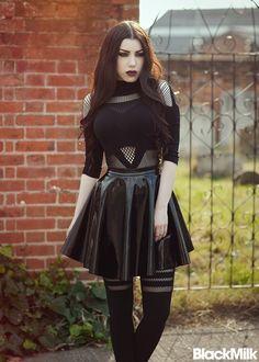 💎Goddess Dragunov💎 (@GodessLaufeyson) | Twitter #skirt #goth #gothic #sheertop
