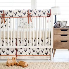 Black Deer Woodland Baby Bedding for Boys | Buck Forest in Night Baby Bedding Collection by ThreeWishesBeddingCo on Etsy https://www.etsy.com/listing/240529641/black-deer-woodland-baby-bedding-for