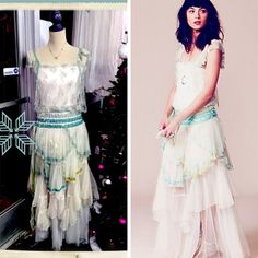 Free People Merrie's Limited Edition Flapper Dress - This is one Stunning flapper-style maxi dress with cascading multi-layered mesh bottom and sequin detailing. Upper body is mesh lace with mesh sequined flutter sleeves. Back and front of each strap has a hanging sequined piece.  Free People limited edition dresses are designed exclusively by our senior designers and are only being made in limited quantities! This one is RARE & New with tags!! Org Retail $700! Simply Posh $425! #freepeople…