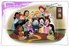Pocket Princesses, Pocket Princess Comics, Disney Princesses, Disney And Dreamworks, Disney Pixar, Walt Disney, Disney Animation, Disney Frozen Elsa, Disney Magic