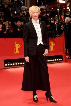 Tilda Swinton, FLAWLESS in Chanel at the 2018 Berlinale International Film Festival | Tom + Lorenzo
