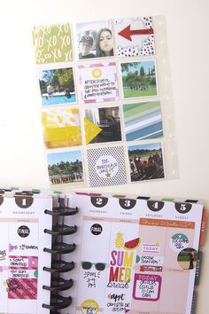 a 'START OF SUMMER' memory planned week in The Happy Planner™ of mambi Design Team member Jennie McGarvey | me & my BIG ideas