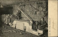 Scranton PA Mine Trolley Mining c1905 Postcard   eBay