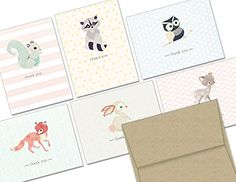 AmazonSmile: Woodland Animals Thank You - 36 Note Cards for $9.99 - with 6 Designs - Including Kraft Envelopes: Health & Personal Care.