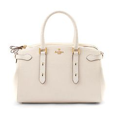 Brook Street Bag in Porcelain Pebble & White Croc - Aspinal of London - Luxury English Lifestyle