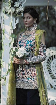 Pakistani Formal Dresses, Pakistani Wedding Outfits, Party Wear Lehenga, Party Wear Dresses, Bollywood Outfits, Bollywood Fashion, Indian Designer Outfits, Designer Dresses, Bridal Lehenga Collection