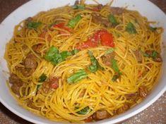 Pasta Chitarra with Lamb in Saffron Sauce