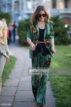Olivia Palermo seen during Milan Fashion Week Spring/Summer 2018 on September 20 2017 in Milan Italy
