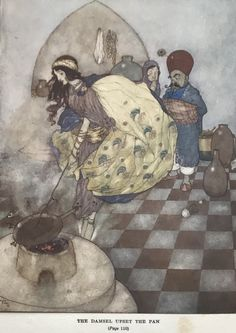 From Edmund Dulac, Illustrator: Stories from the Arabian Nights.