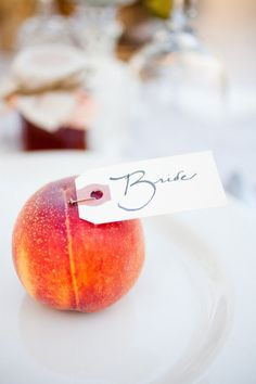 peach seating cards