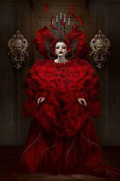 """Red Queen"" photo manipulations by Natalie Shau Queen Art, Red Queen, Dark Fantasy, Fantasy Art, Gothic Artwork, Gothic Vampire, Estilo Rock, Goth Art, Creepy Cute"